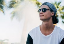 Kygo palm trees outside sunglasses