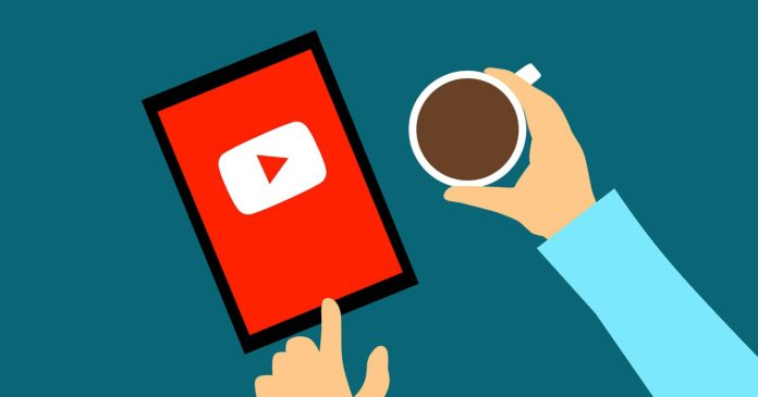 YouTube and coffee graphic