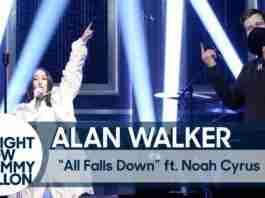 Alan Walker Noah Cyrus All Falls Down The Tonight Show Starring Jimmy Fallon