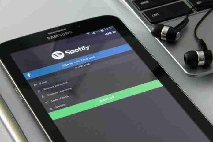 Spotify login iPhone on desk